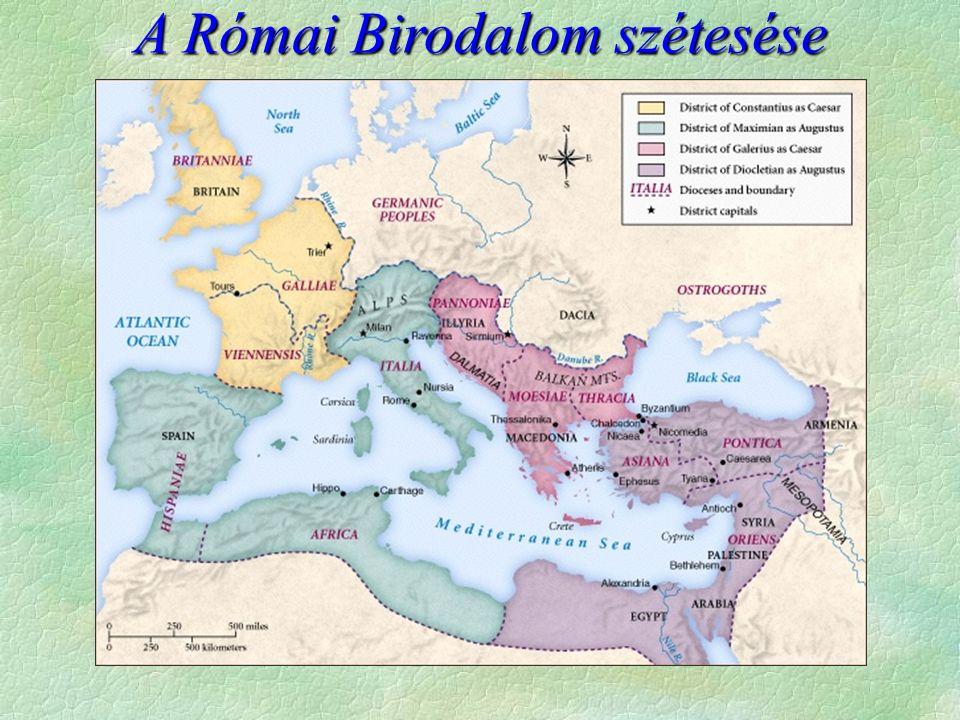  Krisztus követői  új vallás bontakozik ki  Az államhatalom  üldözi  türelmes, ha  sérti az államhatalmat  Állami keresztényüldözés (Nérót leszámítva)  Katonacsászárok idején indul meg  a válság idején bűnbaknak lettek kikiáltva  Decius császár 250, betiltja a kereszténység gyakorlását  Diocletianus alatt a legvéresebb a keresztények üldözése  Üldözések  érték el céljukat  A lakosság jelentős része már keresztény  de az államszervezet tagjainak jelentős része is keresztény már Keresztény- üldözések