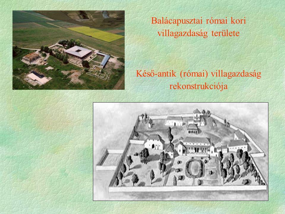 Balácapusztai római kori villagazdaság területe Késő-antik (római) villagazdaság rekonstrukciója
