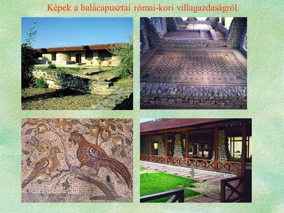 Képek a balácapusztai római-kori villagazdaságról