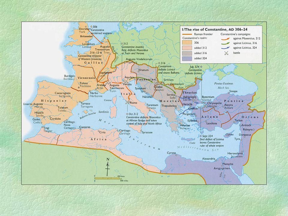 Az isteni jel ábrázolása Constantinus diadalíve a Fórumon, Kr.