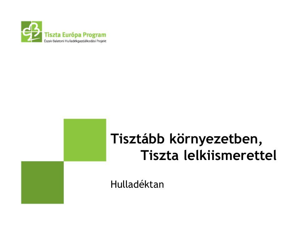 Bevezetés Korunk egyik meghatározó kérdése a környezetvédelem.
