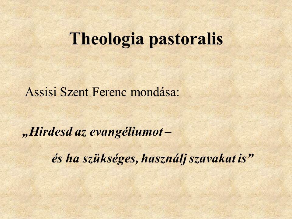 """Theologia pastoralis Assisi Szent Ferenc mondása: """"Hirdesd az evangéliumot – és ha szükséges, használj szavakat is"""""""