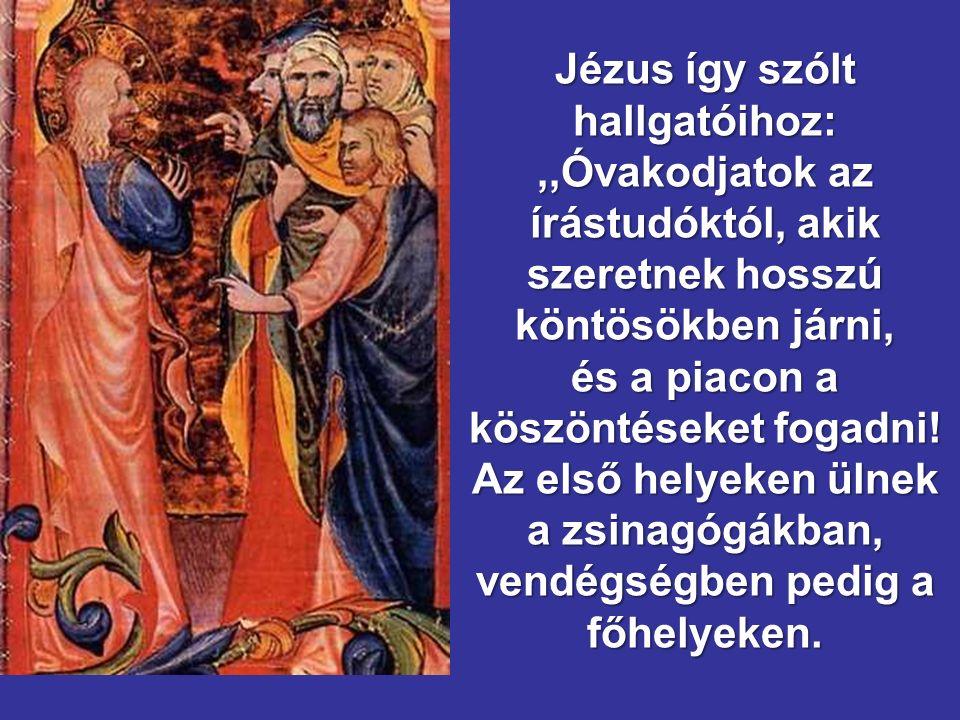 XXXII Évközi Vasárnap B - év Matteo 3,1-12 Márk 12,38-44