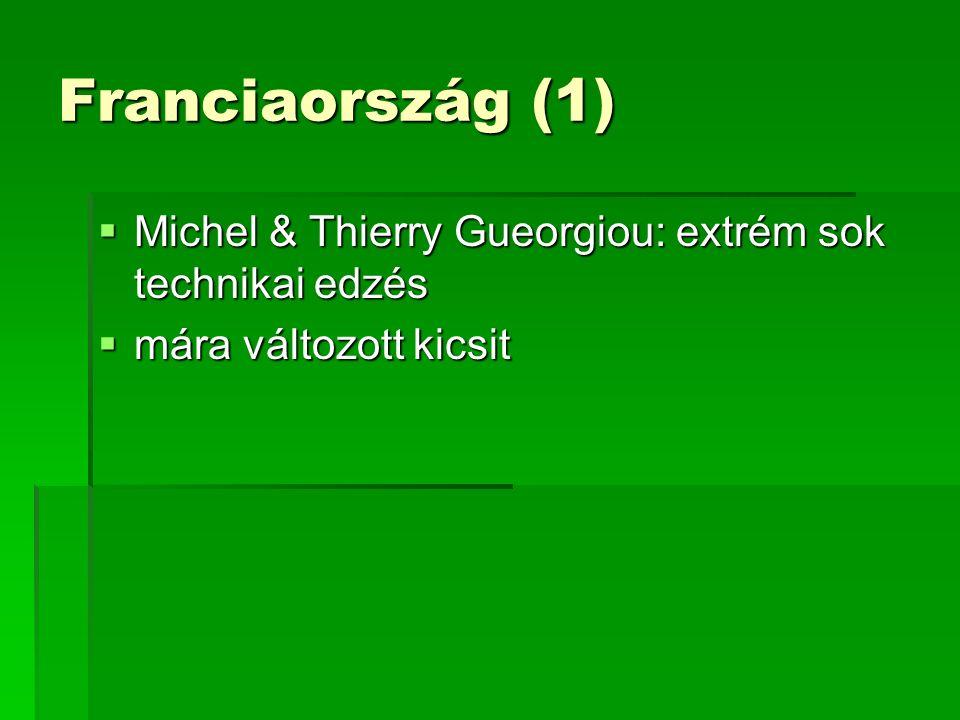Franciaország (1)  Michel & Thierry Gueorgiou: extrém sok technikai edzés  mára változott kicsit