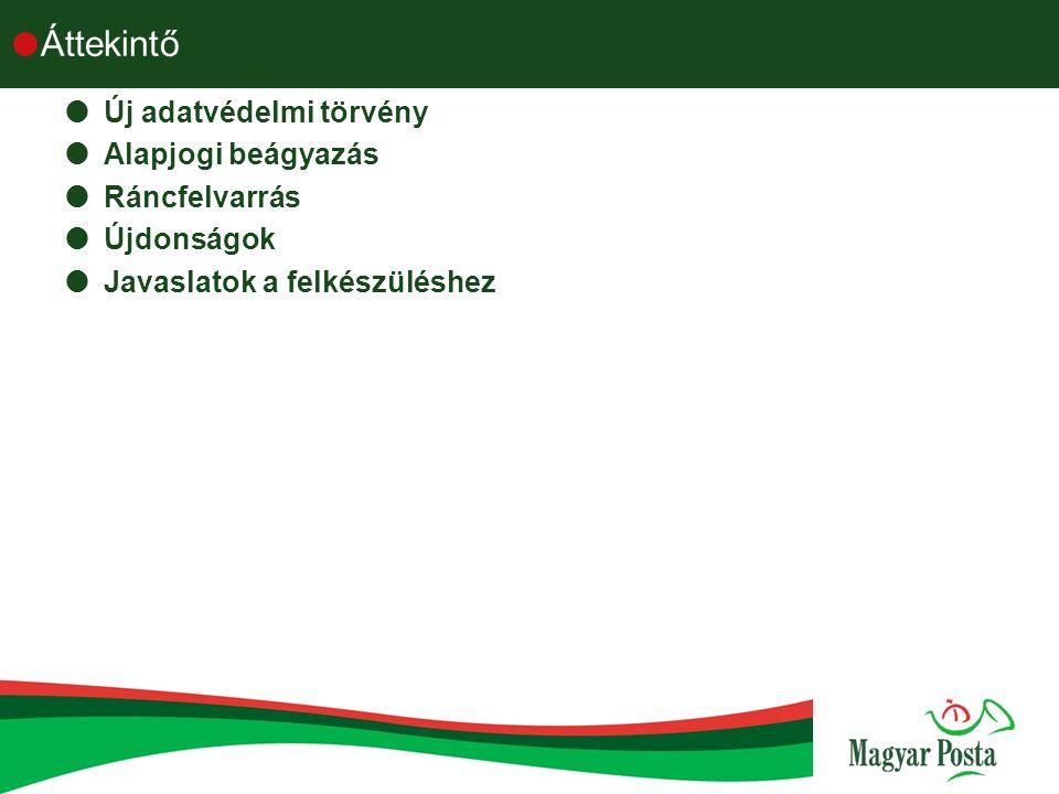 Új törvény Alaptörvény 2012.Január 1-től  VI.