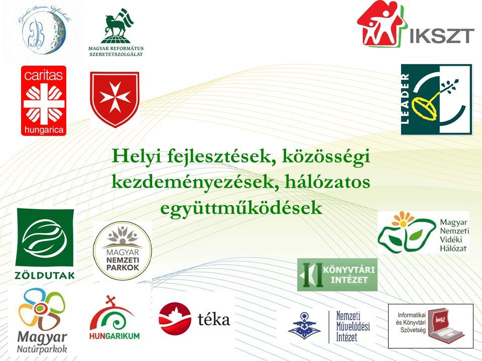 Helyi fejlesztések, közösségi kezdeményezések, hálózatos együttműködések