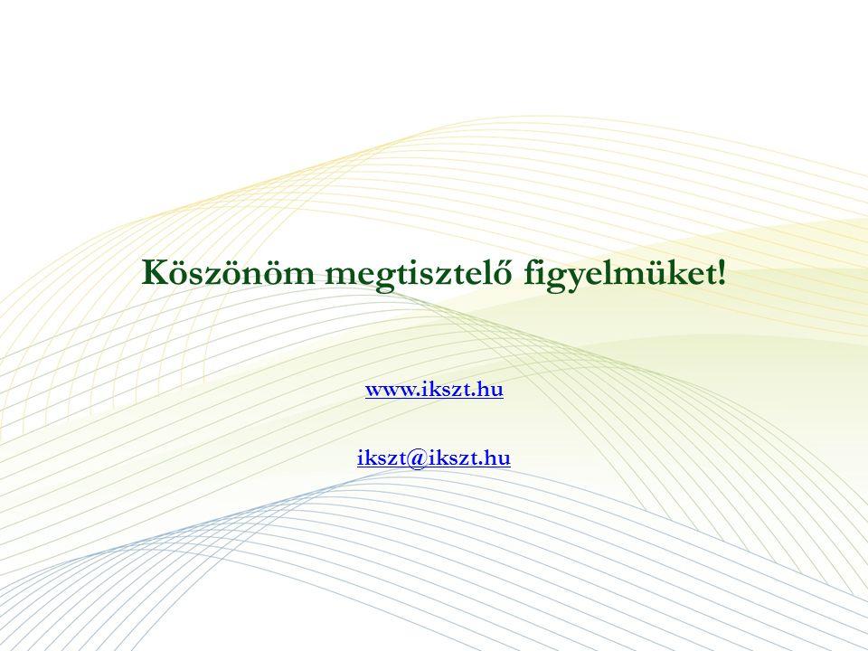 Köszönöm megtisztelő figyelmüket! www.ikszt.hu ikszt@ikszt.hu