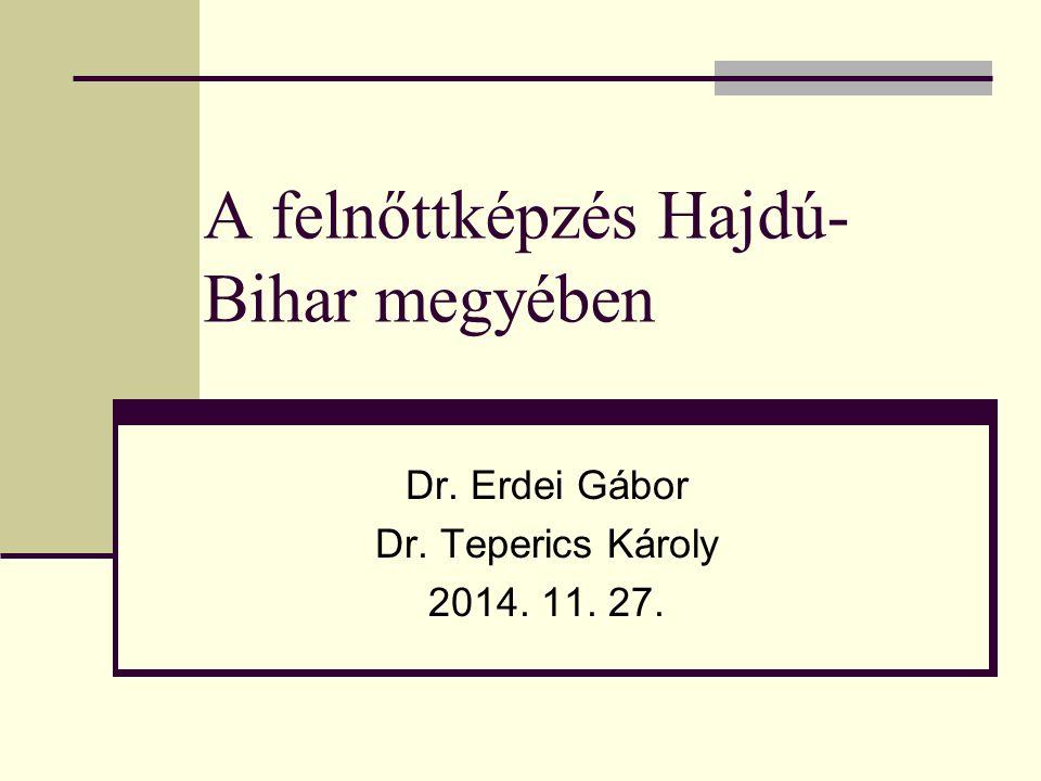 A felnőttképzés Hajdú- Bihar megyében Dr. Erdei Gábor Dr. Teperics Károly 2014. 11. 27.