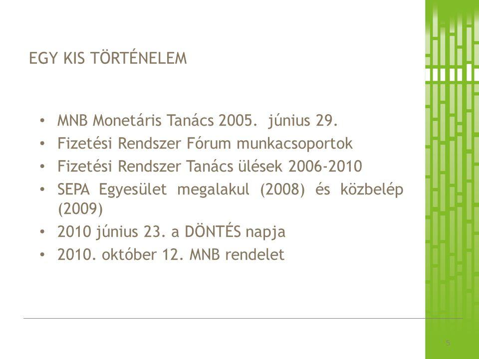 EGY KIS TÖRTÉNELEM 5 MNB Monetáris Tanács 2005. június 29.