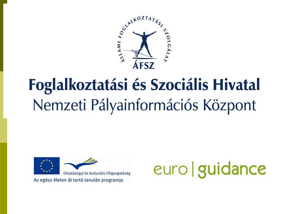 Foglalkoztatási és Szociális Hivatal Nemzeti Pályainformációs Központ 6721, Szeged Bocskai u.10-12.