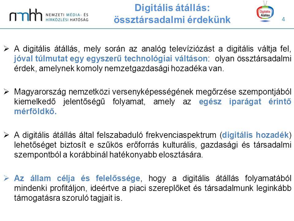 15 Átállás koordinációja  A digitális átállás koordinációja igazodik az adott ország történelmi, földrajzi, igazgatási sajátosságaihoz, valamint demográfiai, szociális viszonyaihoz, médiapiaci szerkezetéhez.