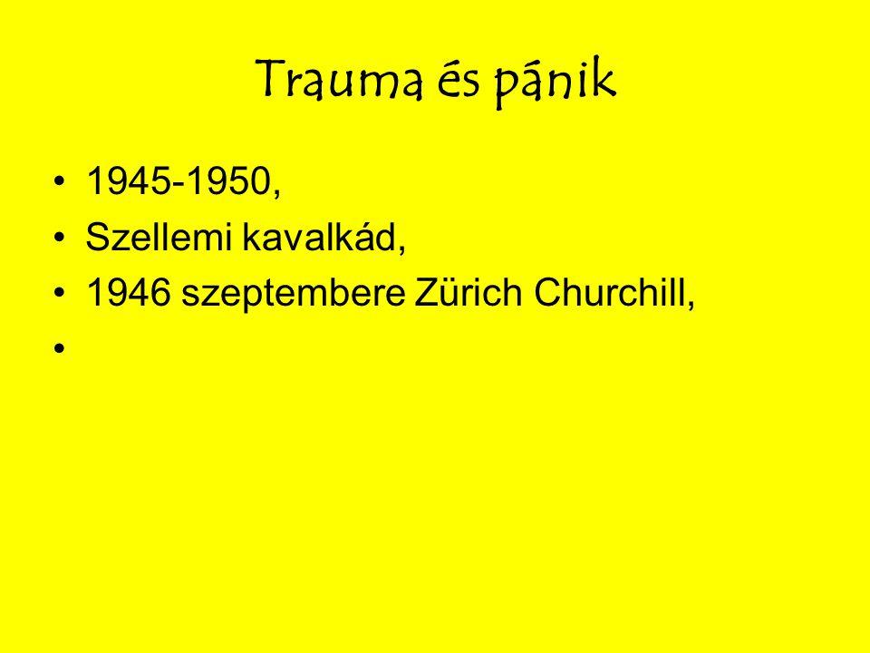 Trauma és pánik 1945-1950, Szellemi kavalkád, 1946 szeptembere Zürich Churchill,