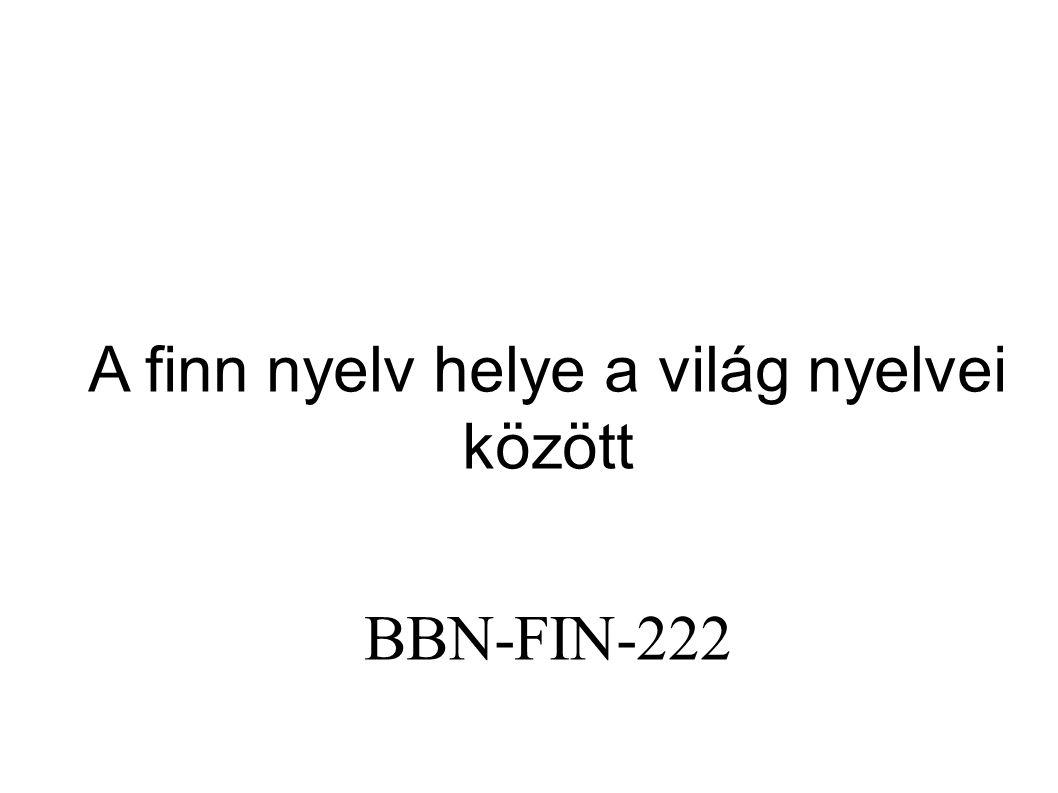 A finn nyelv helye a világ nyelvei között BBN-FIN-222