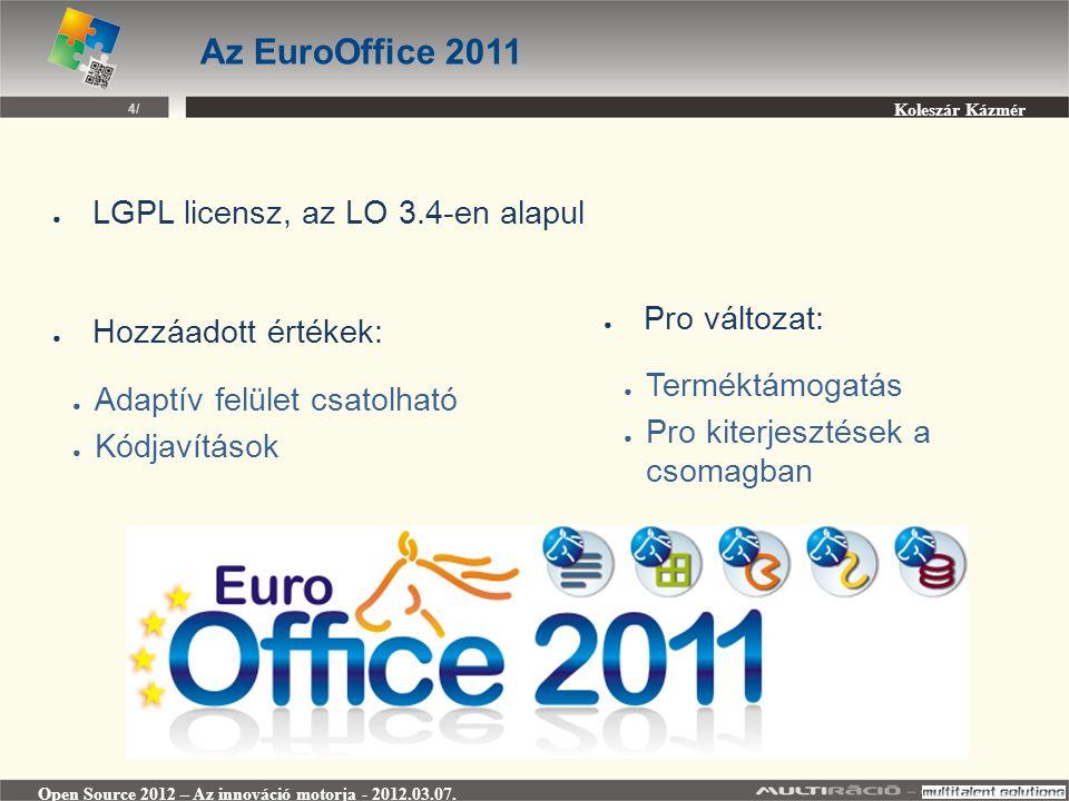 Koleszár Kázmér Open Source 2012 – Az innováció motorja - 2012.03.07.