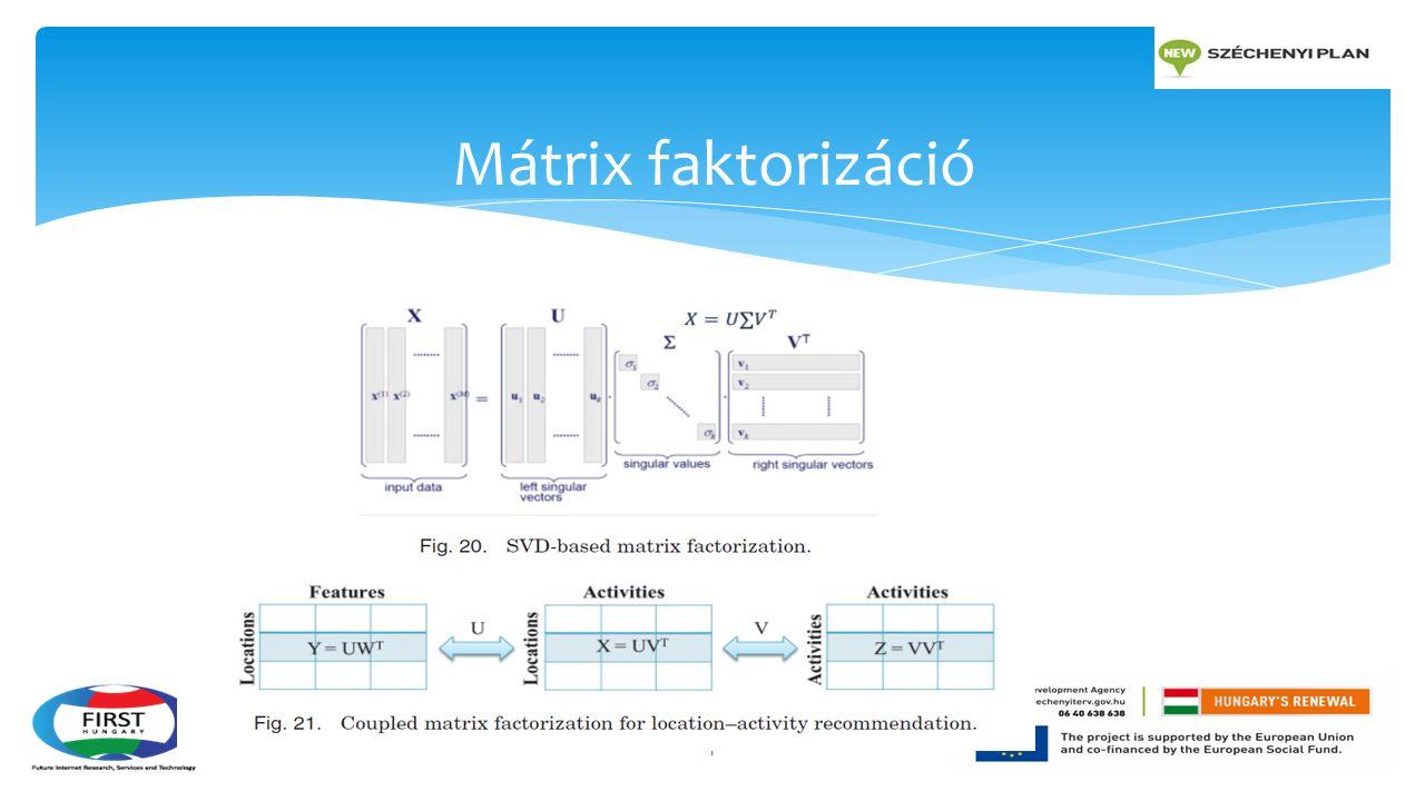 Mátrix faktorizáció 1