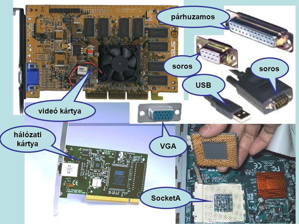 soros USB soros párhuzamos VGA hálózati kártya videó kártya SocketA