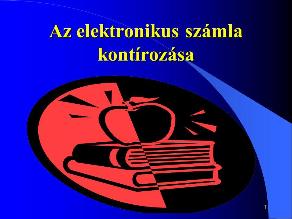 2 Adóhatósági álláspont APEH közlemény az elektronikus számlázásról megjelent AEÉ 2005/9.