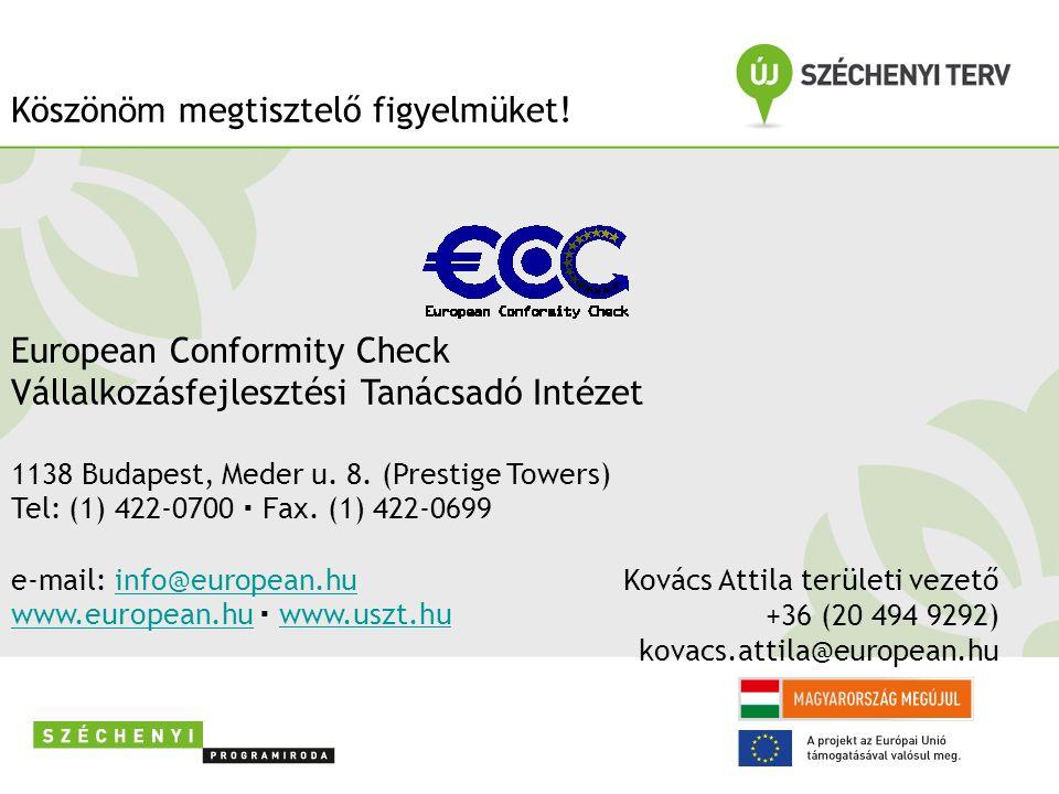 Kovács Attila területi vezető +36 (20 494 9292) kovacs.attila@european.hu Köszön öm megtisztelő figyelmüket.