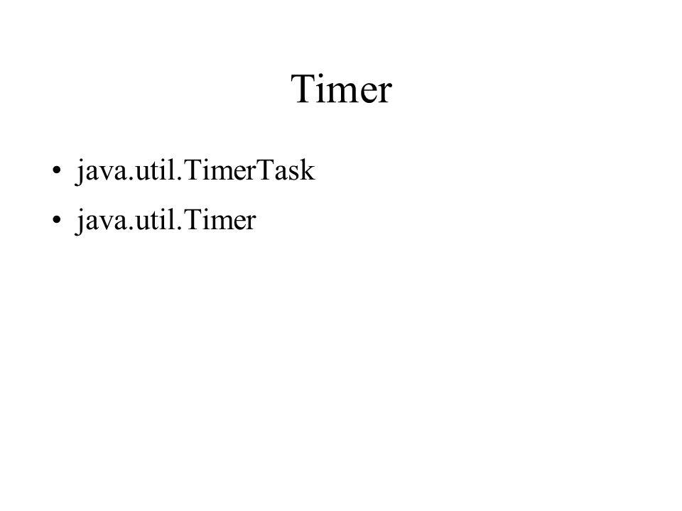 Timer java.util.TimerTask java.util.Timer