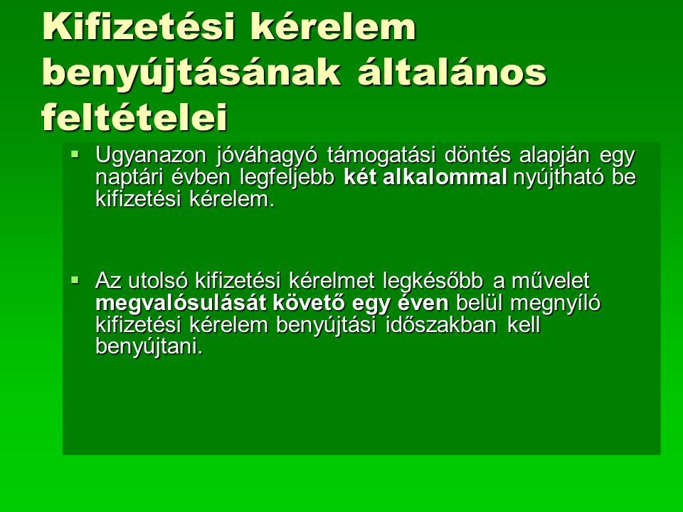 Üzemeltetési kötelezettség A 23/2007 (IV.17.) FVM Rendelet 23.