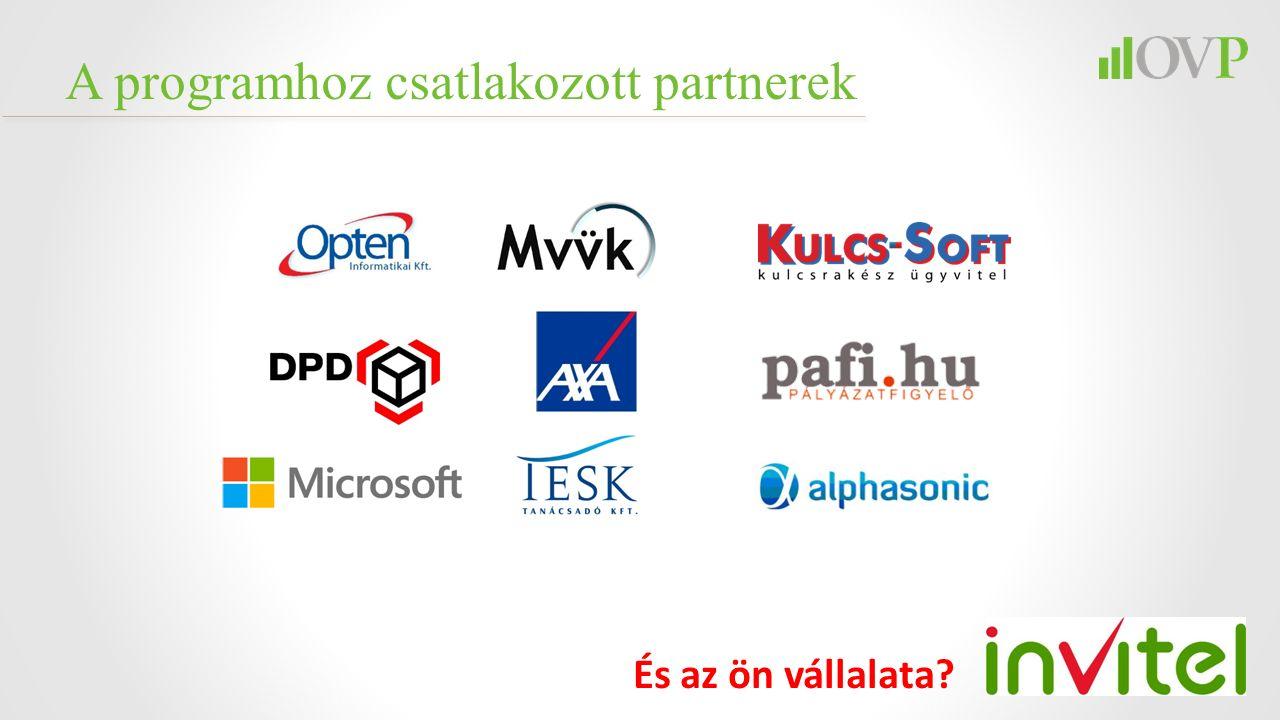 A programhoz csatlakozott partnerek És az ön vállalata?