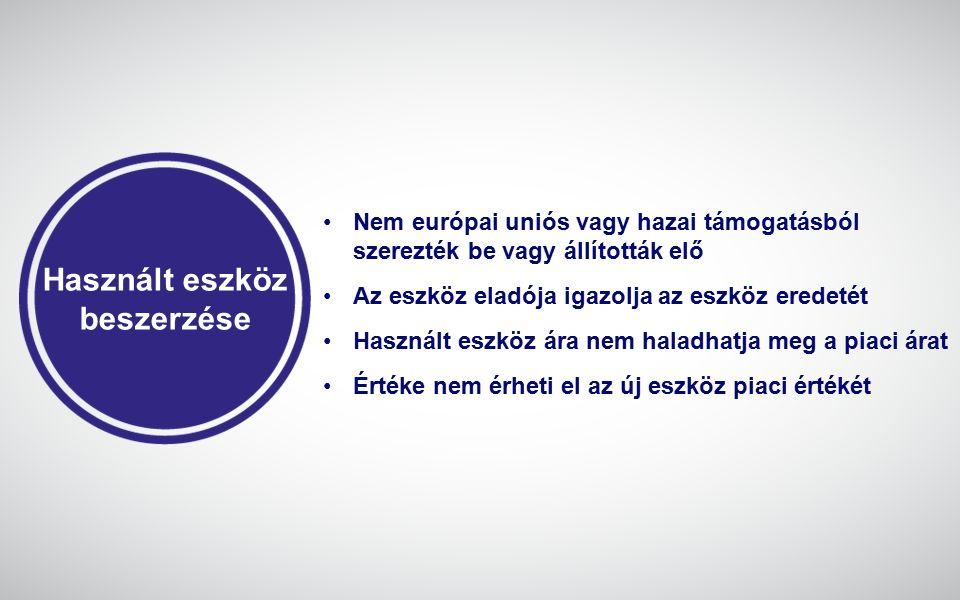 Élelmiszeripari projektek Amennyiben előállított termék nem az EUMSZ I.