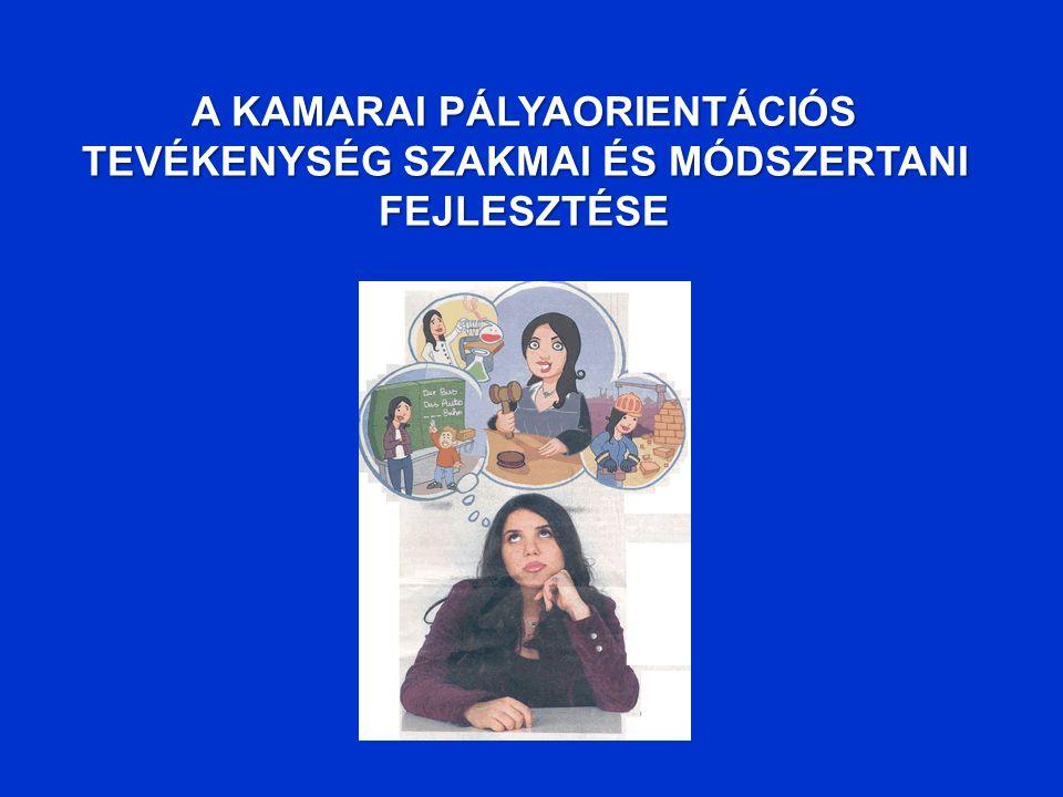 A KAMARAI PÁLYAORIENTÁCIÓS TEVÉKENYSÉG SZAKMAI ÉS MÓDSZERTANI FEJLESZTÉSE