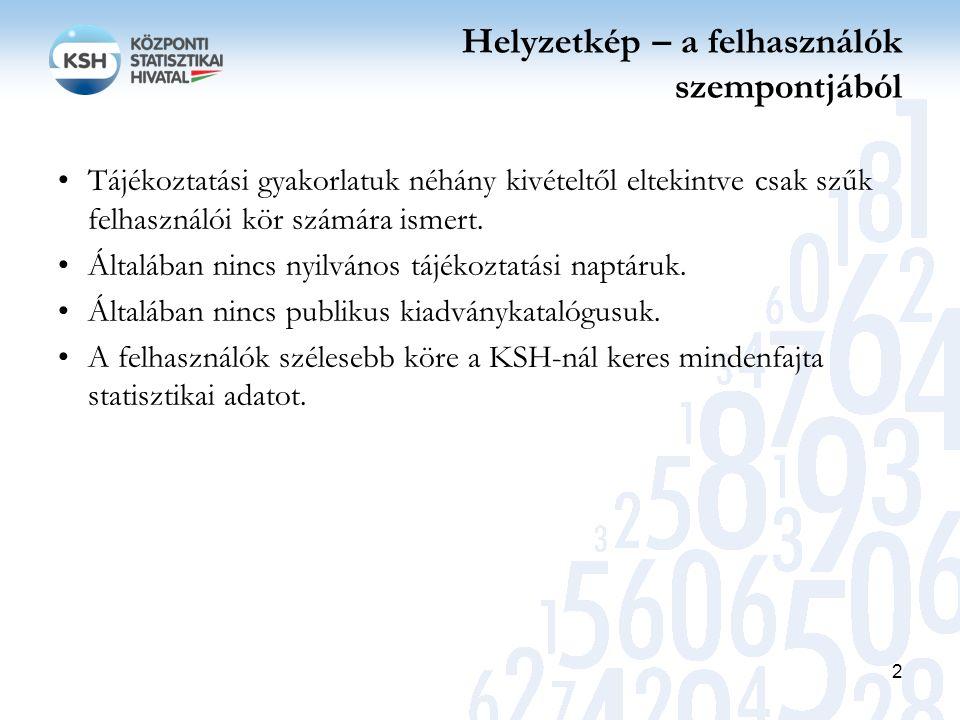 Az új statisztikai törvény szerint… a KSH feladata különösen: a Hivatalos Statisztikai Szolgálatba tartozó szervezetek statisztikai tevékenységének koordinációja, a hivatalos statisztikai tevékenységgel kapcsolatos iránymutatások, ajánlások kiadása, azok végrehajtásának ellenőrzése, felülvizsgálata; az OST feladata különösen: a Hivatalos Statisztikai Szolgálat éves tájékoztatási programjának véleményezése; A Nemzeti Statisztikai Koordinációs Testület feladata javaslatok kidolgozása a hivatalos statisztikai tevékenység egységesítésére, a minőségének folyamatos javítására, a párhuzamosságok kiküszöbölésére; európai statisztika továbbítására kizárólag az Európai Statisztikai Rendelettel összhangban a KSH elnöke, mint főstatisztikus által megjelölt nemzeti hatóság és az MNB jogosult.