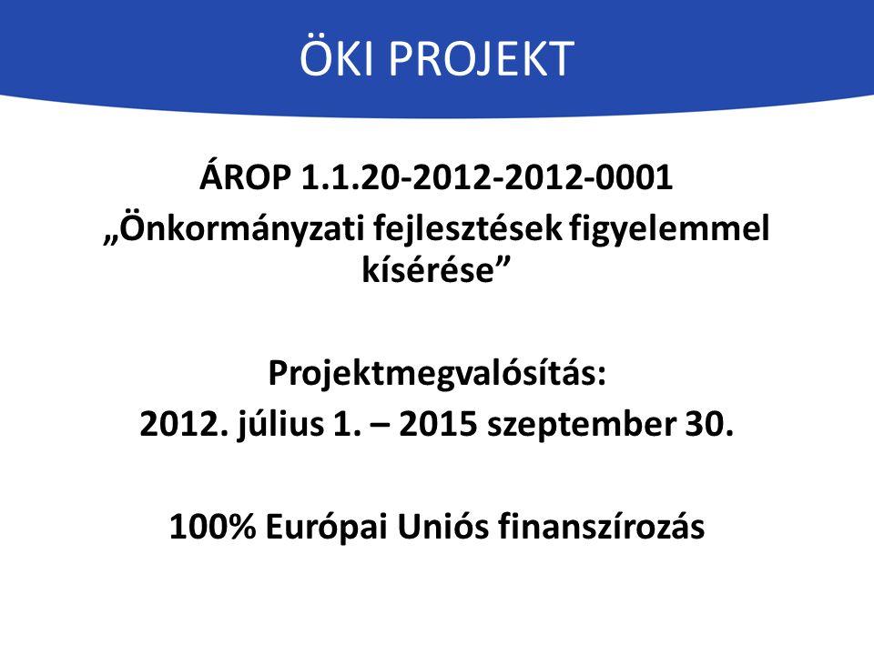 """ÖKI PROJEKT ÁROP 1.1.20-2012-2012-0001 """"Önkormányzati fejlesztések figyelemmel kísérése Projektmegvalósítás: 2012."""
