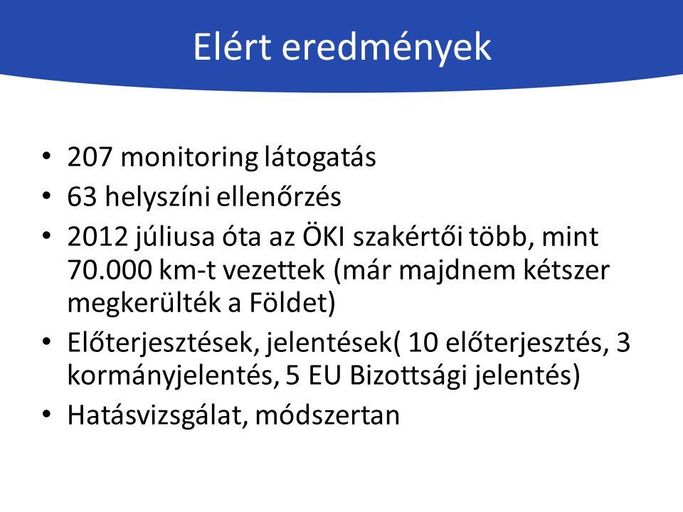 A szakmai megvalósítása során eddig az ÖKI munkatársai készítettek 207 monitoring jegyzőkönyvet írtak 70 emlékeztetőt írtak 45 jelentést kezeltek 268 átmeneti ivóvízellátási támogatási igényt ( 129 támogatási igény kezelése folyamatban ) szerveztek: -3 roadshow-t (21 helyszínen) -9 workshopot -9 megyei területi workshop -23 koordinációs értekezletet -120 egyedi konzultációt -> 40 egyeztetést -> 20 egyéb rendezvényt Az ÖKI különböző rendezvényein 2015.