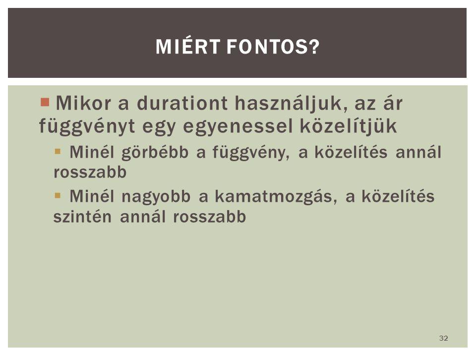 32 MIÉRT FONTOS.