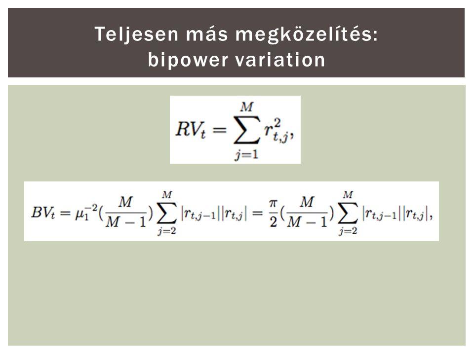 Teljesen más megközelítés: bipower variation