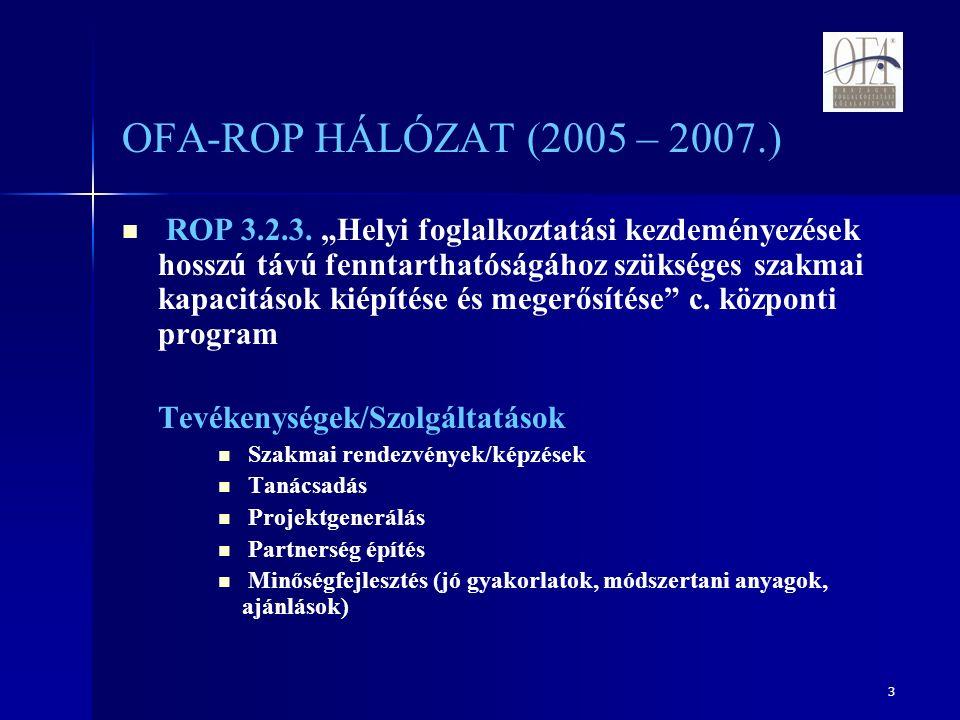 3 OFA-ROP HÁLÓZAT (2005 – 2007.) ROP 3.2.3.