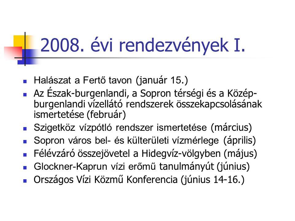 2008. évi rendezvények I.