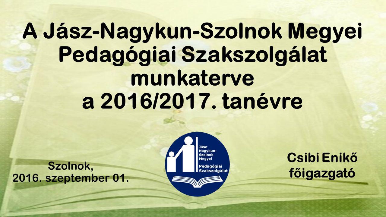 A Jász-Nagykun-Szolnok Megyei Pedagógiai Szakszolgálat munkaterve a 2016/2017.