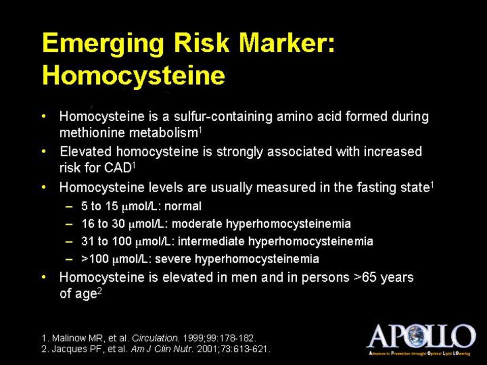 Emerging Risk Marker: Homocysteine