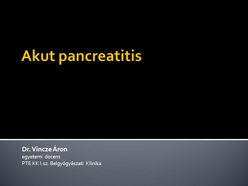 Dr. Vincze Áron egyetemi docens PTE KK I.sz. Belgyógyászati Klinika
