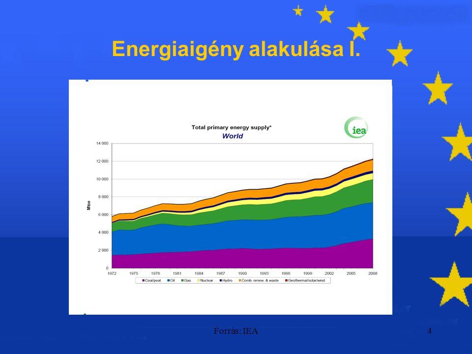 Forrás: IEA4 Energiaigény alakulása I.