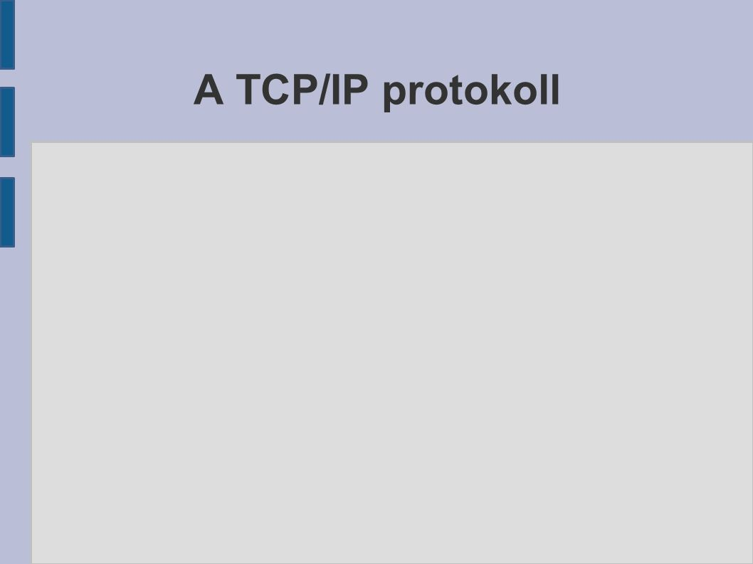 A TCP/IP protokoll
