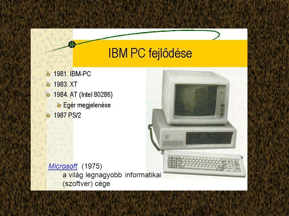 MicrosoftMicrosoft (1975) a világ legnagyobb informatikai (szoftver) cége