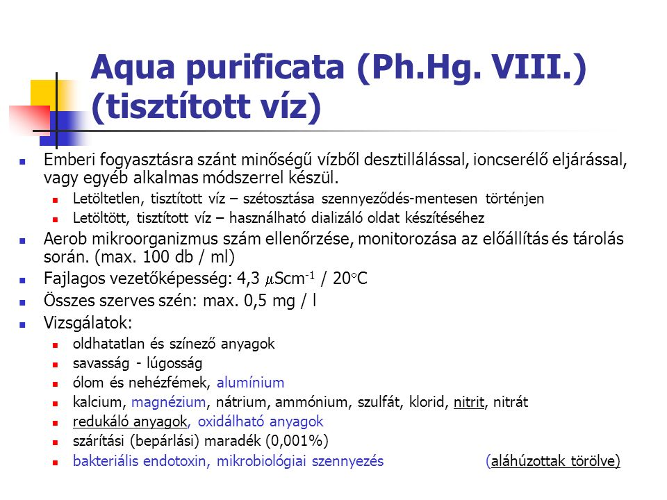 Aqua purificata (Ph.Hg.