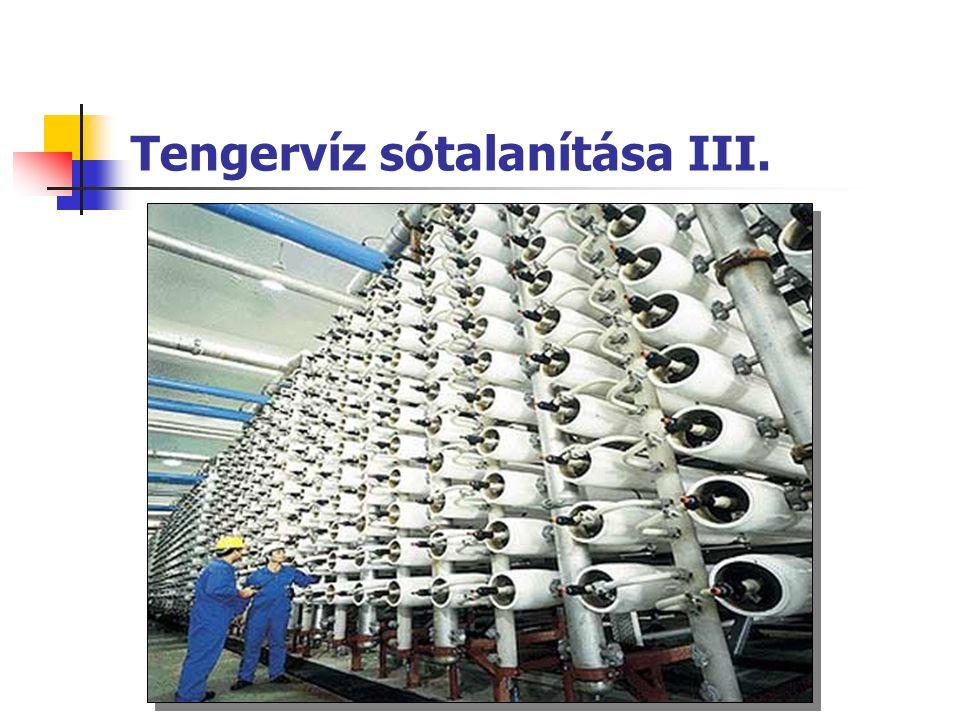 Tengervíz sótalanítása III.