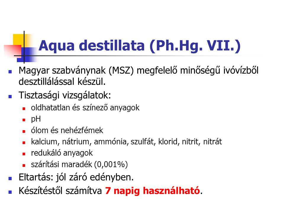 Aqua destillata pro injectione (Ph.Hg.