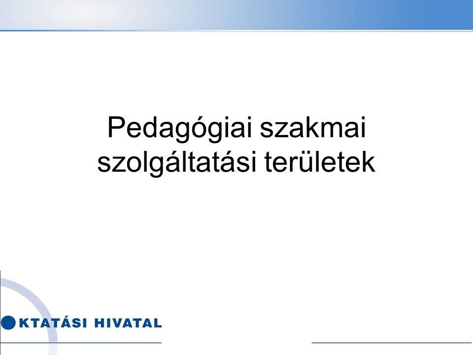 Pedagógiai szakmai szolgáltatási területek