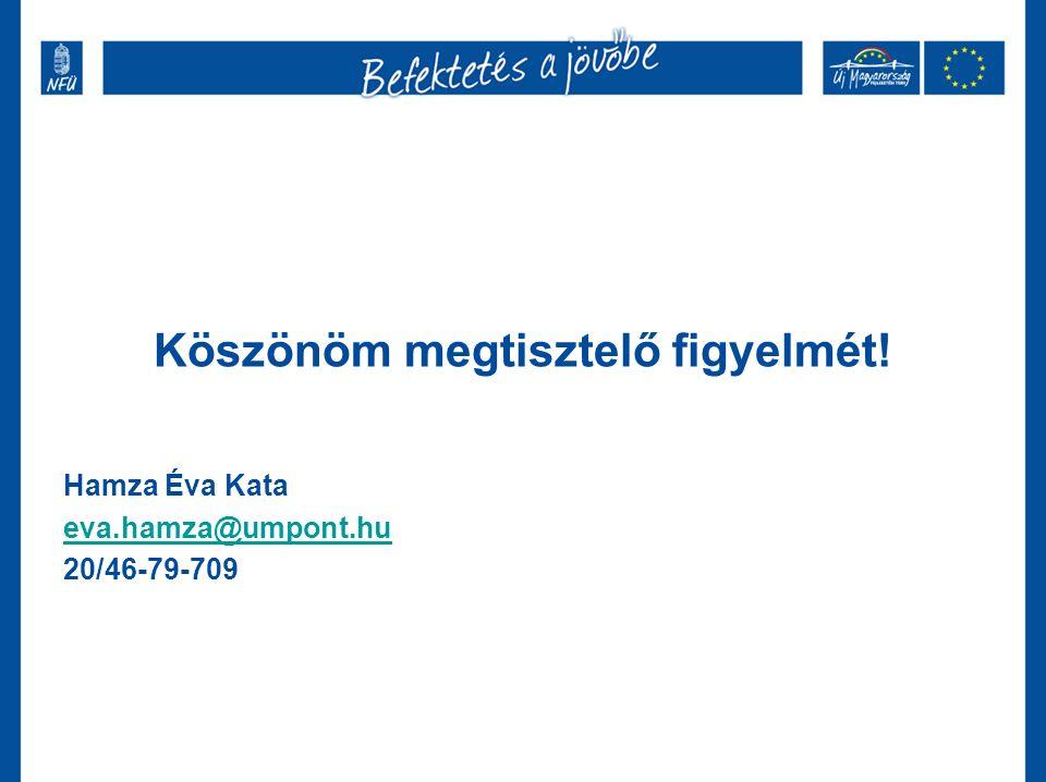 Köszönöm megtisztelő figyelmét! Hamza Éva Kata eva.hamza@umpont.hu 20/46-79-709
