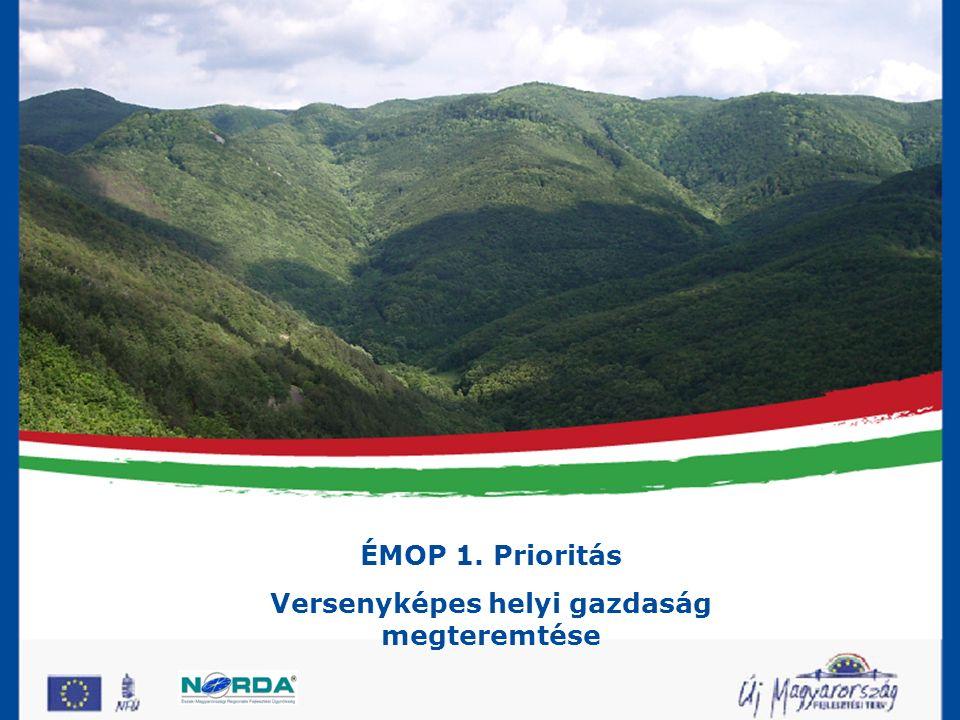 ÉMOP 1.Prioritás Versenyképes helyi gazdaság megteremtése ÉMOP 1.