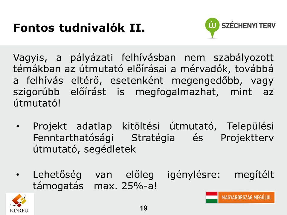19 Fontos tudnivalók II.