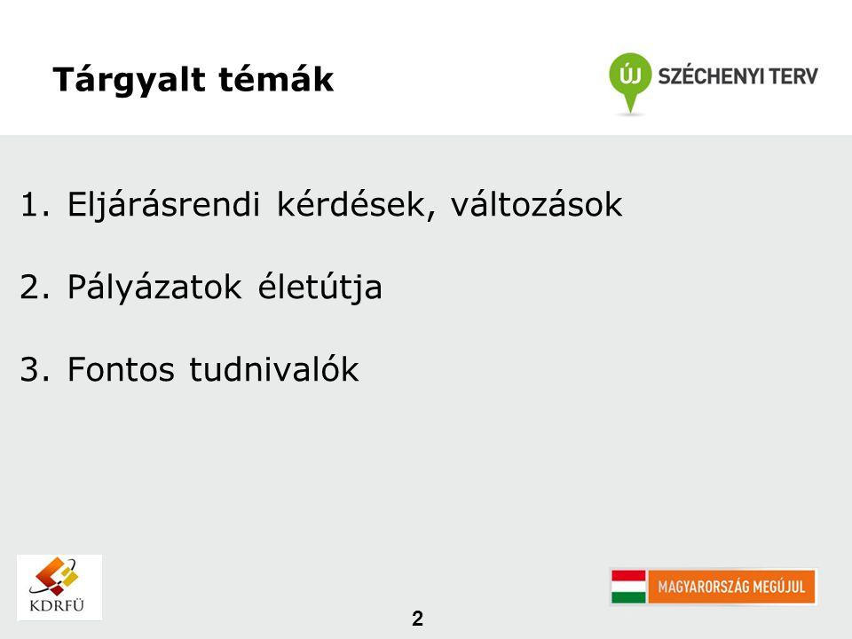 4/2011.(I. 28.) Kormányrendelet és a 24/2011. (V.