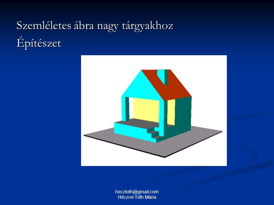 Szemléletes ábra nagy tárgyakhoz Építészet hecztoth@gmail.com Héczné Tóth Mária