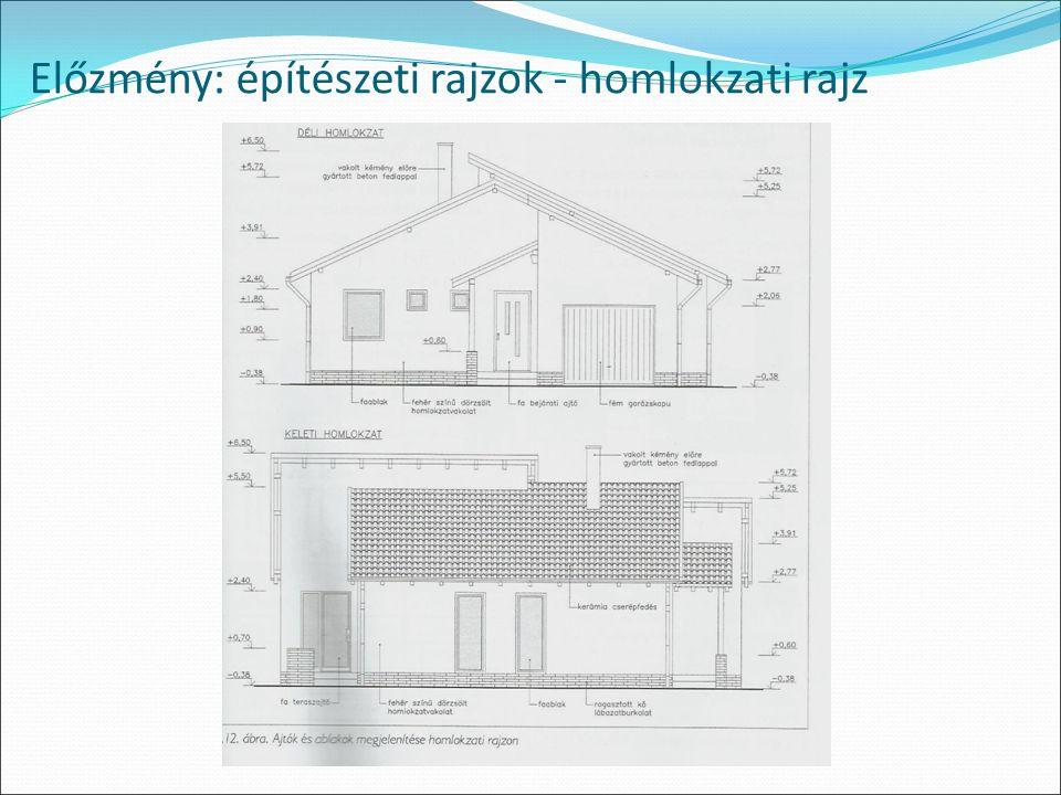 Előzmény: építészeti rajzok - homlokzati rajz